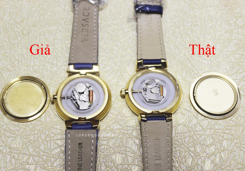 phân biệt đồng hồ versace thật giả