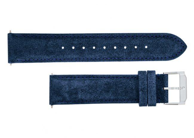 Movado Blue Navy Suede Watch Straps 18mm, 20mm, 21mm