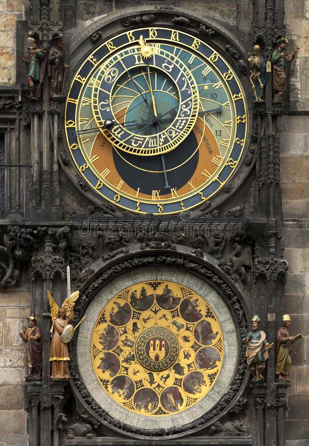 Đồng hồ ở thị trấn Prague với Moon Phase
