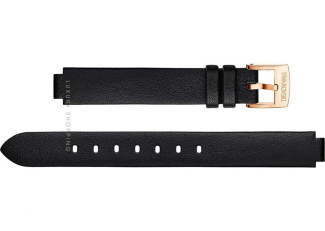 Swarovski 5302413 Lovely Crystals Mini Black Leather Strap 13/12mm