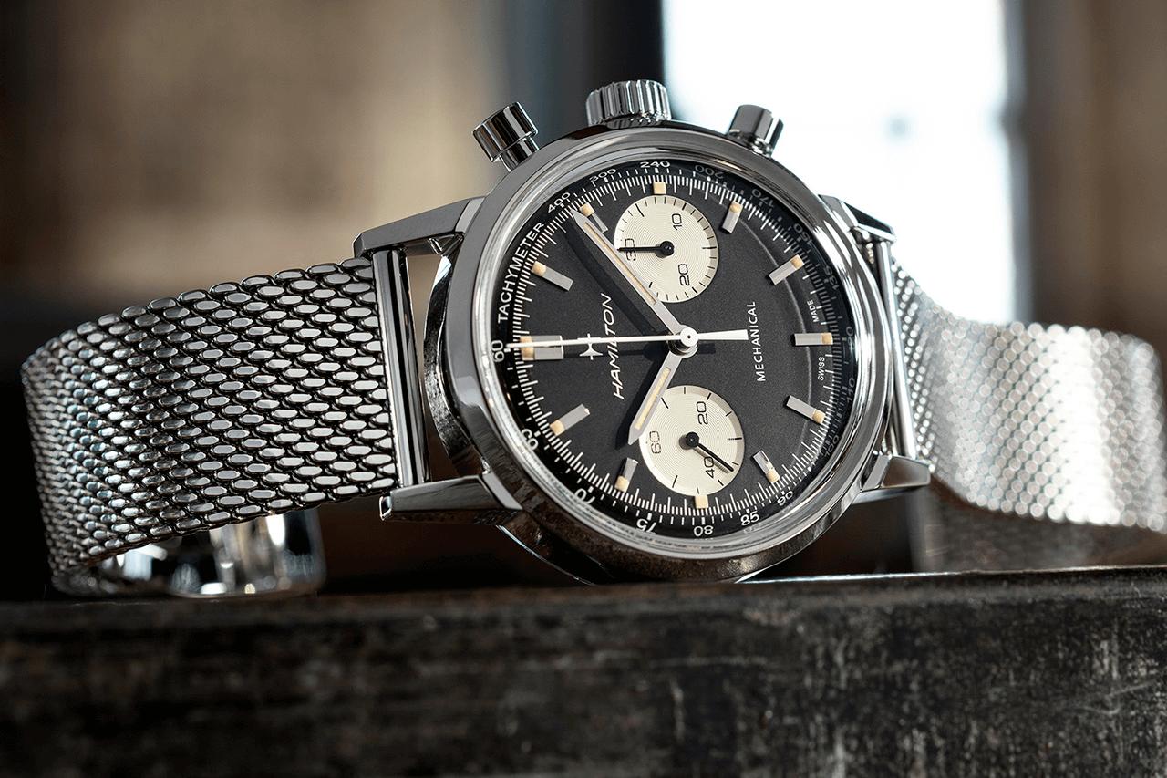đồng hồ chronograph Hamilton Intra Matic Chronograph H 2021